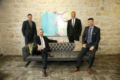 Photo of Skyline Chiefs. From left to right, Jason Castellan, Wayne Byrd, Jason Ashdown, and Martin Castellan