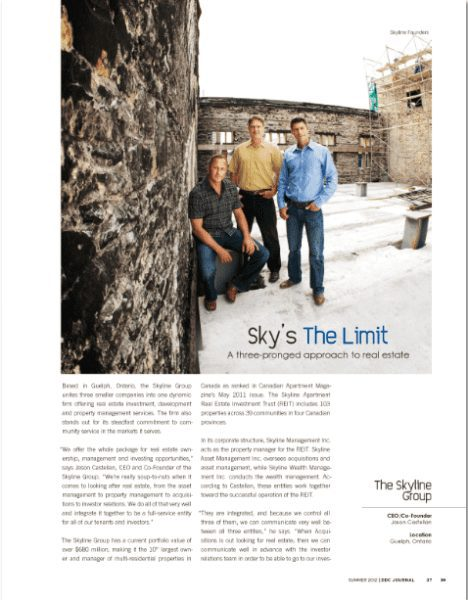 Sky's The Limit Page in a Magazine