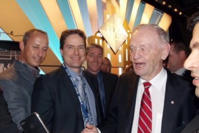 Owners of Skyline are pictured with former Premier Jean Chretien
