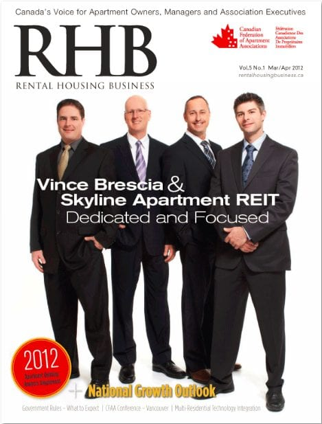 RHB Cover. Vince Brescia & Skyline Apartment REIT - Dedicated and Focused